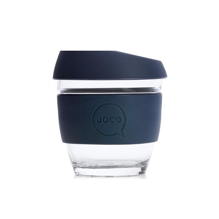 Joco Reusable Glass Cup 8oz Joco Coffee & Tea Cups Mood Indigo at Little Earth Nest Eco Shop