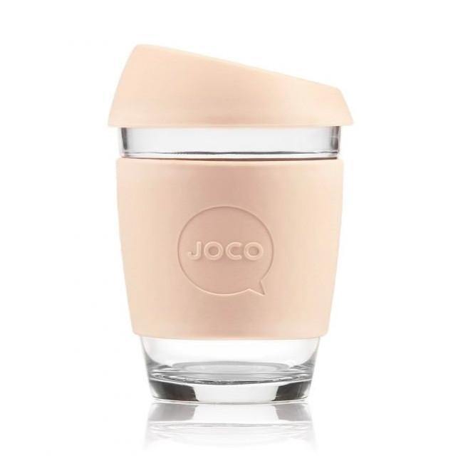 Joco Cup Reusable Glass Cup 12oz Joco Coffee & Tea Cups Sandstone at Little Earth Nest Eco Shop
