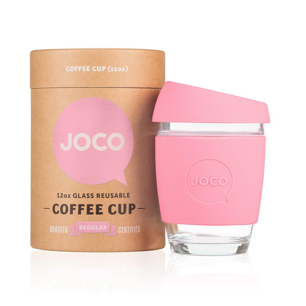 Joco Cup Reusable Glass Cup 12oz  Strawberry - Joco - Little Earth Nest - 1