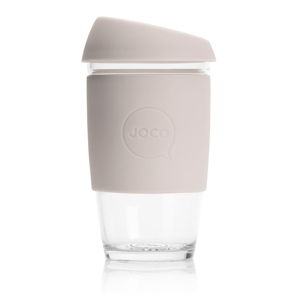 Joco Cup Reusable Glass Cup 16oz Joco Coffee & Tea Cups Sandstone at Little Earth Nest Eco Shop