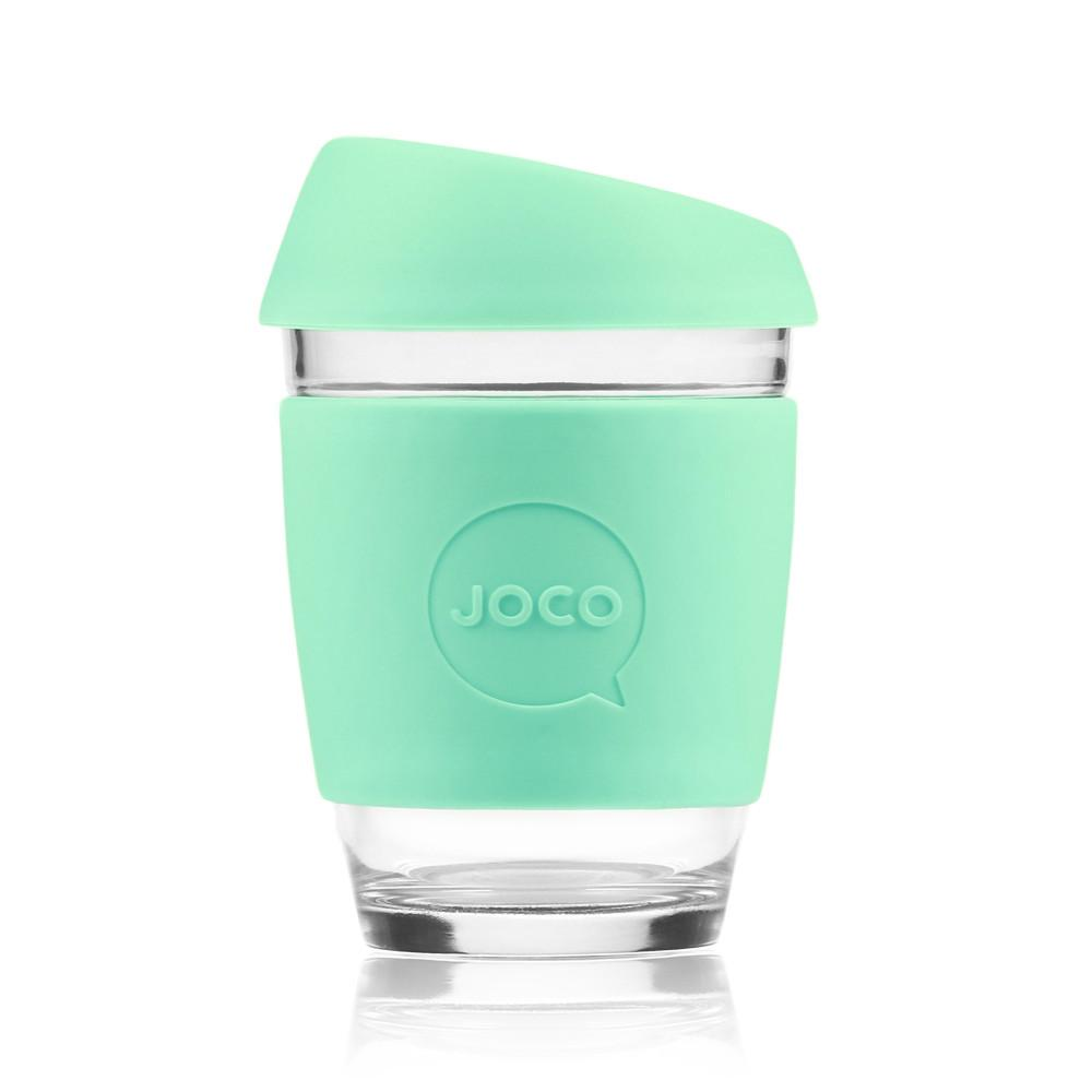 Joco Cup Reusable Glass Cup 12oz Joco Coffee & Tea Cups Vintage Green at Little Earth Nest Eco Shop