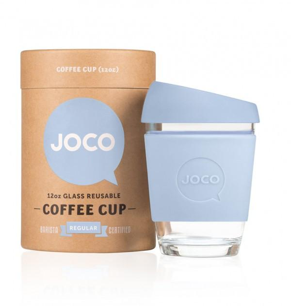 Joco Cup Reusable Glass Cup 12oz Joco Coffee & Tea Cups Vintage Blue at Little Earth Nest Eco Shop