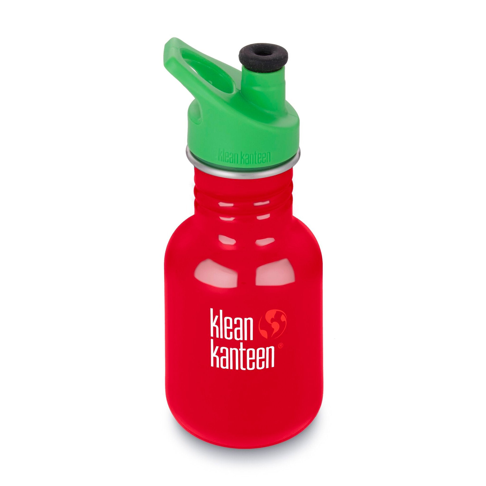 Klean Kanteen Kid Kanteen 355ml 12oz Stainless Steel Bottle Klean Kanteen Sippy Cups Sport / Mineral Red at Little Earth Nest Eco Shop