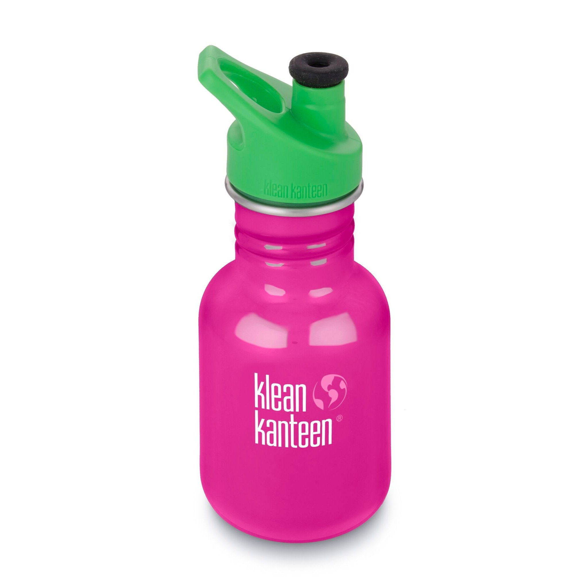 Klean Kanteen Kid Kanteen 355ml 12oz Stainless Steel Bottle Klean Kanteen Sippy Cups Sport / Wild Orchid at Little Earth Nest Eco Shop