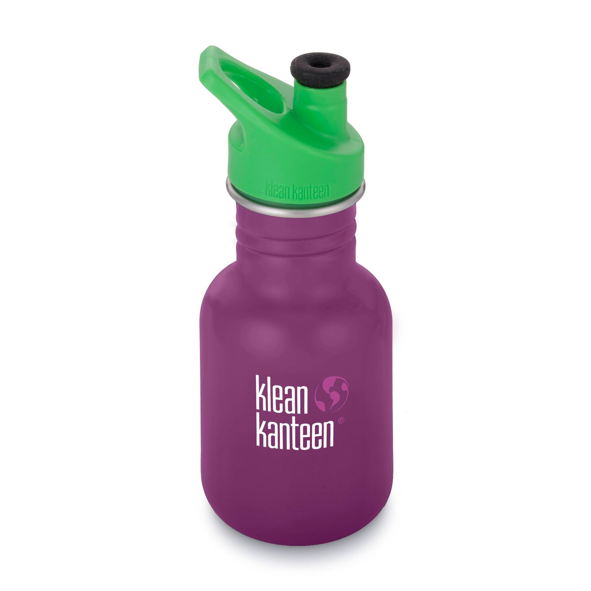 Klean Kanteen Kid Kanteen 355ml 12oz Stainless Steel Bottle Klean Kanteen Sippy Cups Sport / Winter Plum at Little Earth Nest Eco Shop