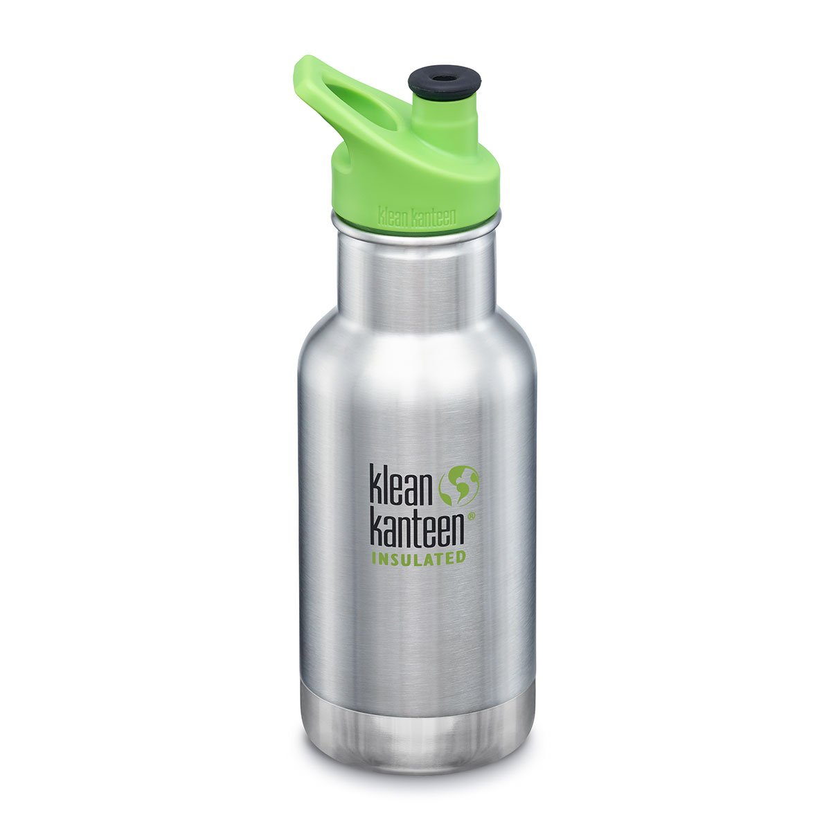 Klean Kanteen Kids Insulated Drink Bottle 12oz Klean Kanteen Water Bottles Brushed Stainless at Little Earth Nest Eco Shop