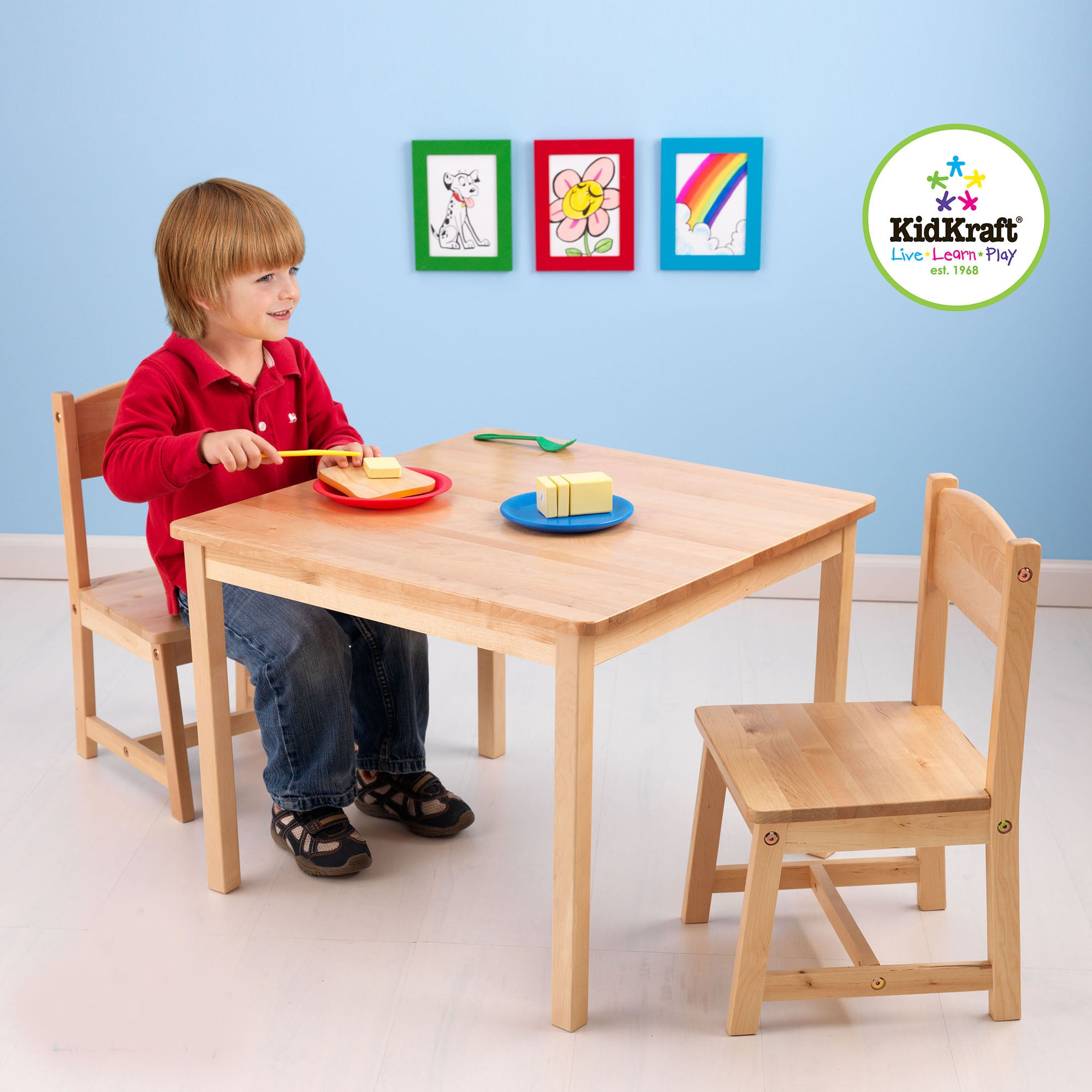 Kidkraft Aspen Table and Chairs Kidkraft Baby and Toddler Furniture Sets Natural at Little Earth Nest Eco Shop