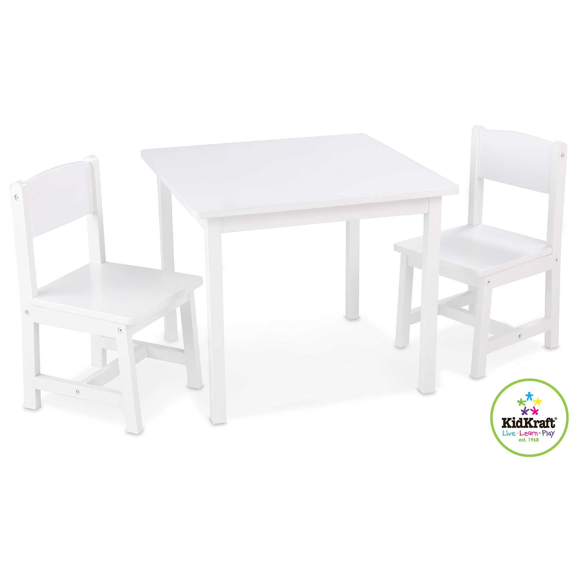Kidkraft Aspen Table and Chairs Kidkraft Baby and Toddler Furniture Sets White at Little Earth Nest Eco Shop
