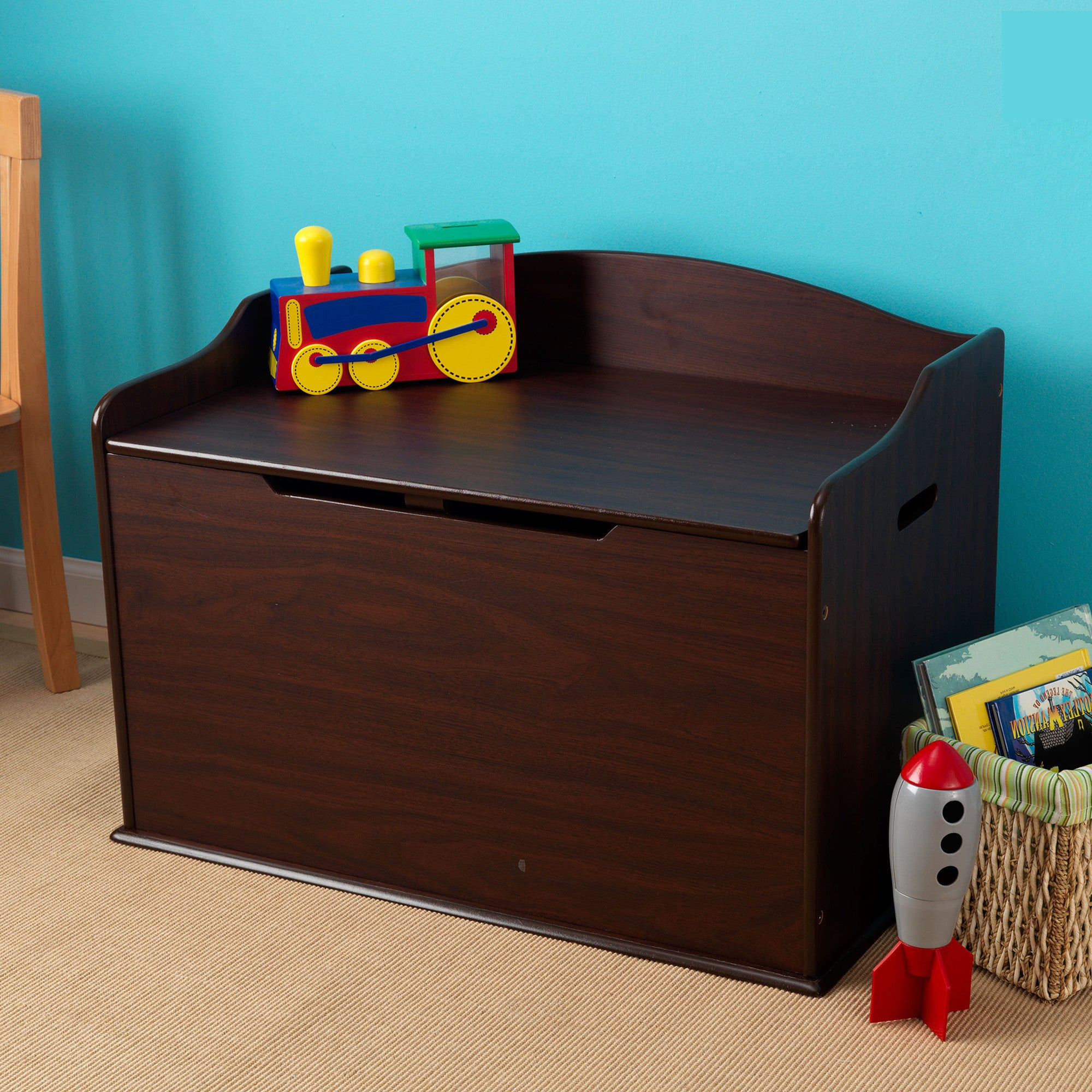Kidkraft Austin Toy Box White  Espresso - Kidkraft - Little Earth Nest - 4