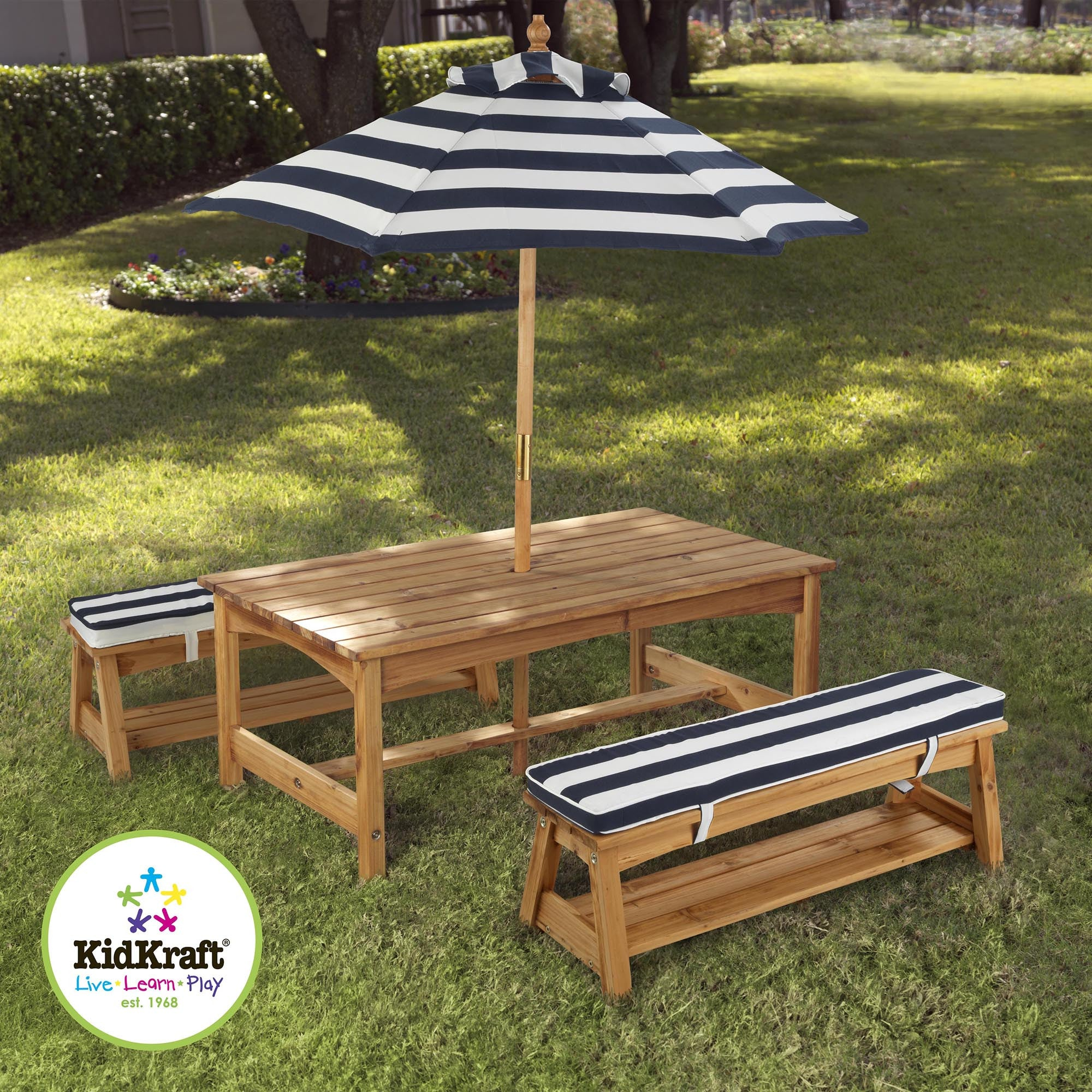 Kidkraft Outdoor Table and Bench Set Kidkraft General at Little Earth Nest Eco Shop