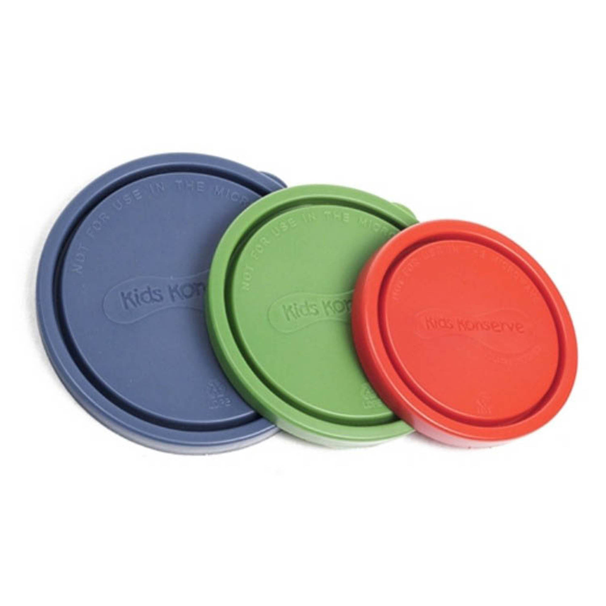 Kids Konserve Stainless Nesting Trio Spare Lids Kids Konserve Food Container Covers Ocean at Little Earth Nest Eco Shop