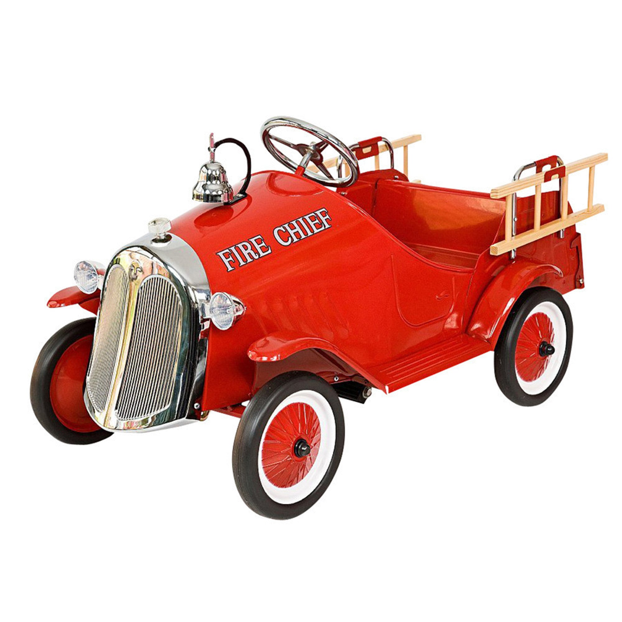 Baghera Kids Steel Toy Pedal Car Fire Truck   - Baghera - Little Earth Nest - 2