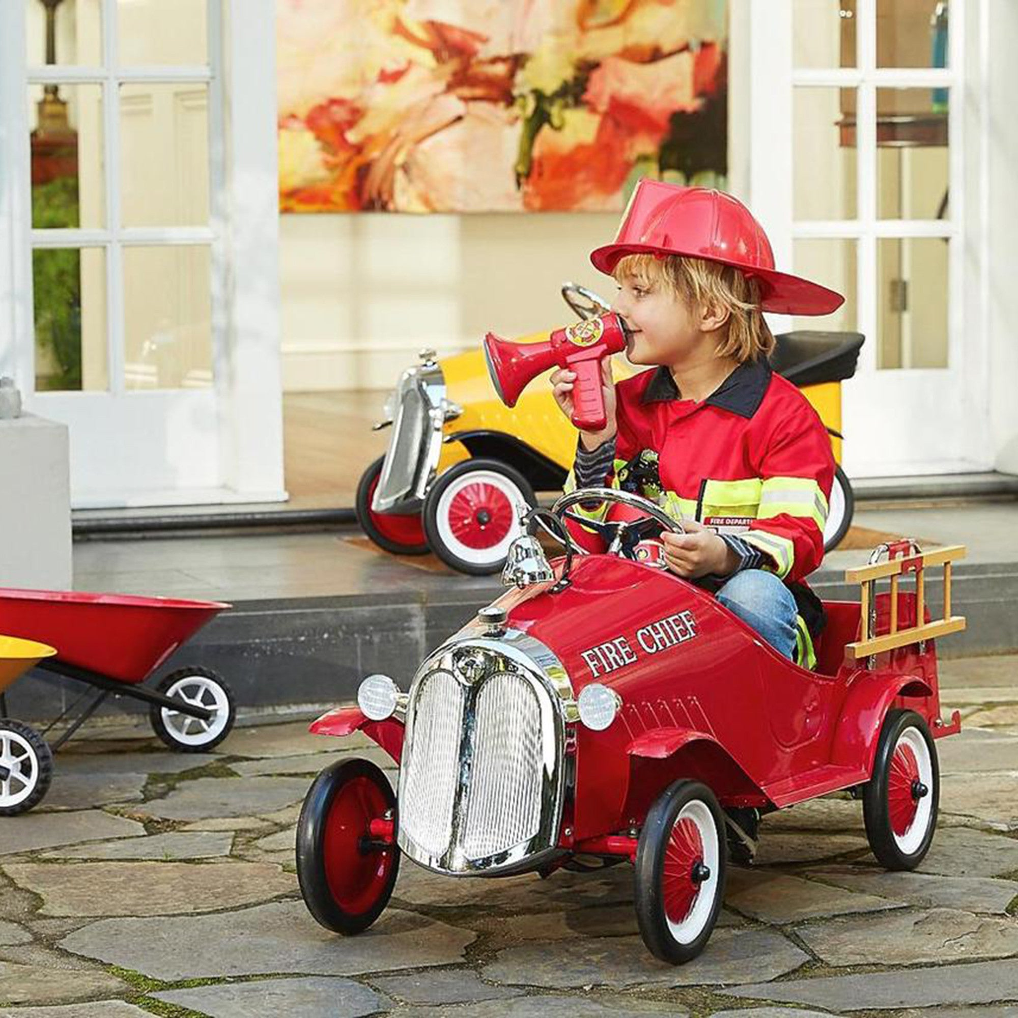 Baghera Kids Steel Toy Pedal Car Fire Truck   - Baghera - Little Earth Nest - 1