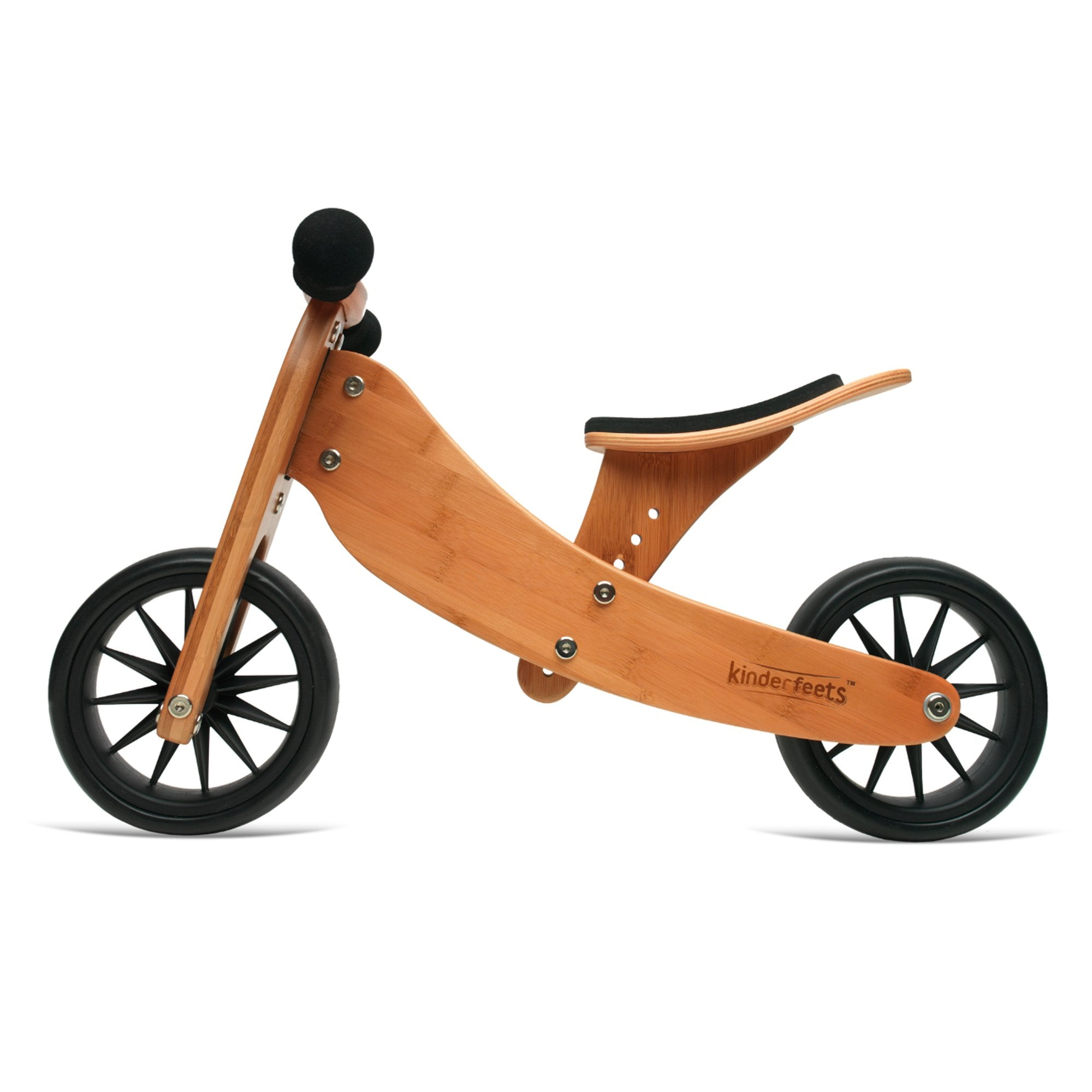 Kinderfeets Tiny Tot Trike Bamboo 2 in 1 Kinderfeets Kids Riding Vehicles at Little Earth Nest Eco Shop