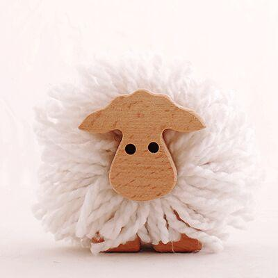 Kipod Pom Pom Sheep Kipod Art and Craft Kits at Little Earth Nest Eco Shop