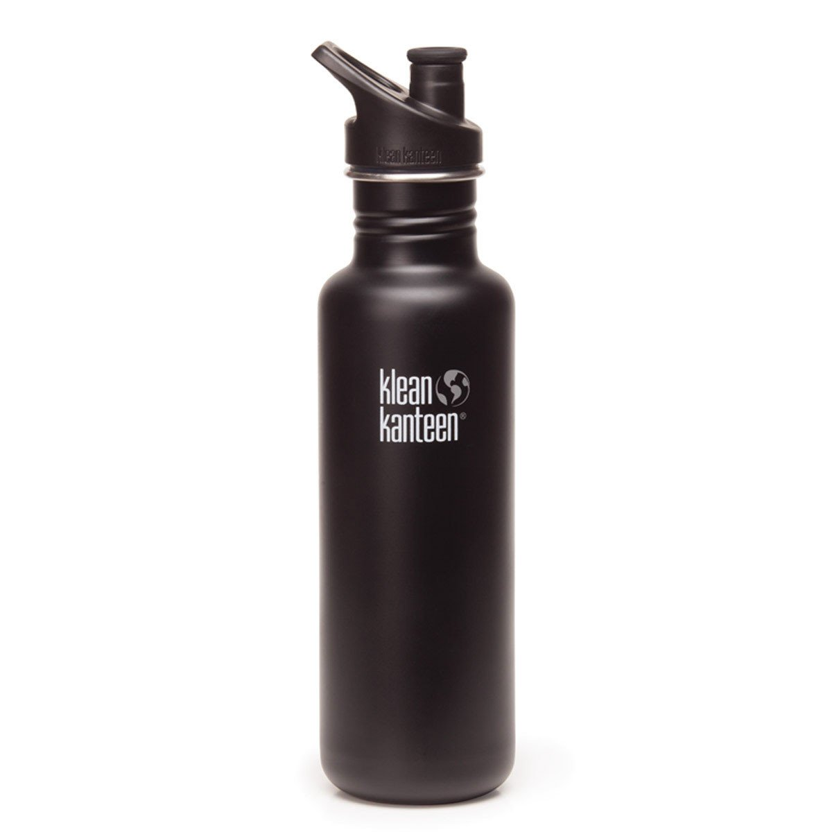 Klean Kanteen Stainless Steel Classic Water Bottle Klean Kanteen Water Bottles 800ml 27oz / Shale Black at Little Earth Nest Eco Shop