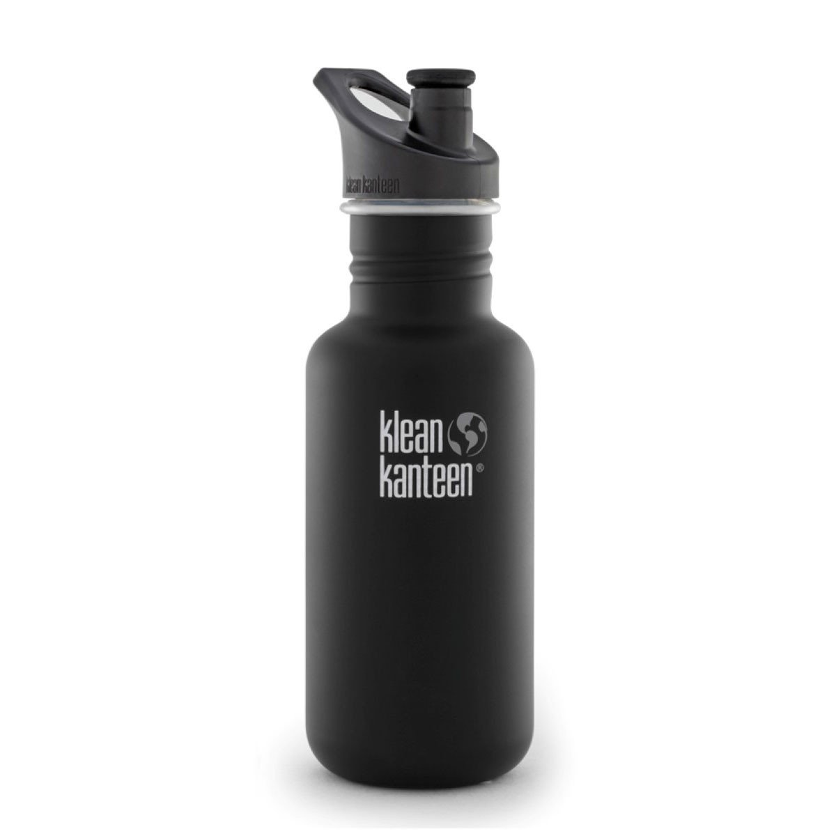 Klean Kanteen Stainless Steel Classic Water Bottle Klean Kanteen Water Bottles 532ml 18oz / Shale Black at Little Earth Nest Eco Shop