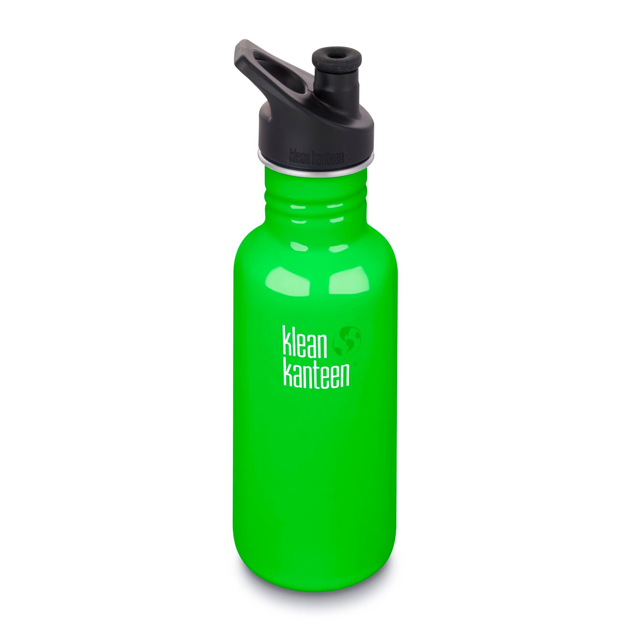 Klean Kanteen Stainless Steel Classic Water Bottle Klean Kanteen Water Bottles 532ml 18oz / Spring Green at Little Earth Nest Eco Shop