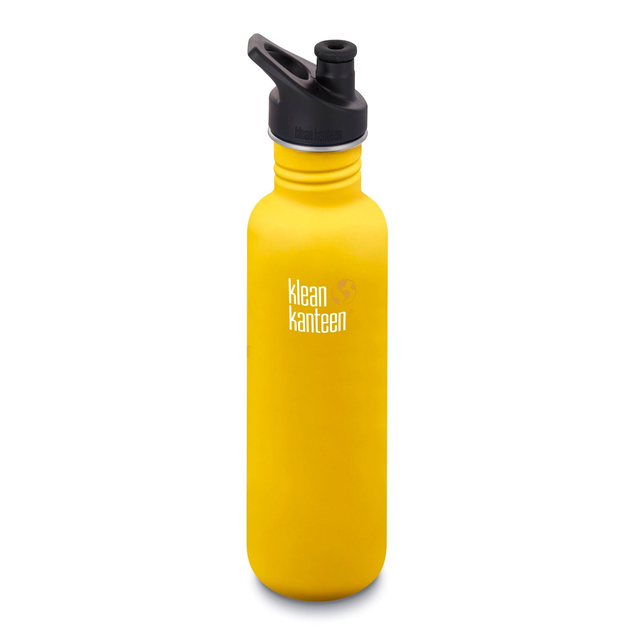 Klean Kanteen Stainless Steel Classic Water Bottle Klean Kanteen Water Bottles 800ml 27oz / Lemon Curry at Little Earth Nest Eco Shop