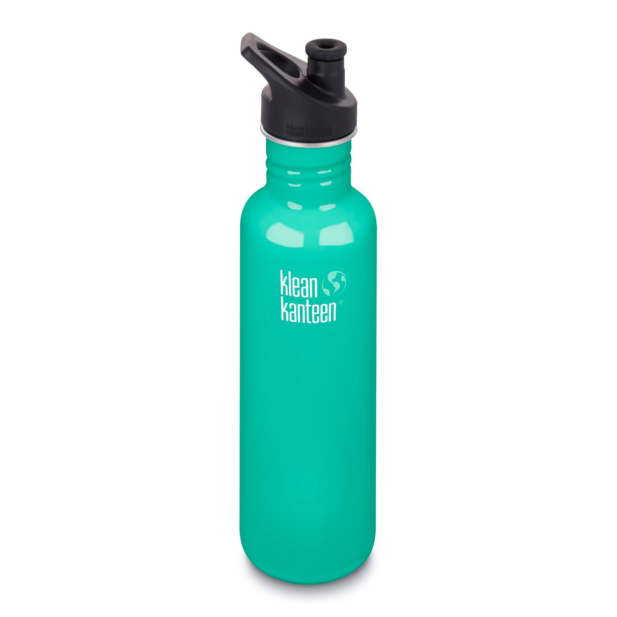 Klean Kanteen Stainless Steel Classic Water Bottle Klean Kanteen Water Bottles 800ml 27oz / Sea Crest at Little Earth Nest Eco Shop