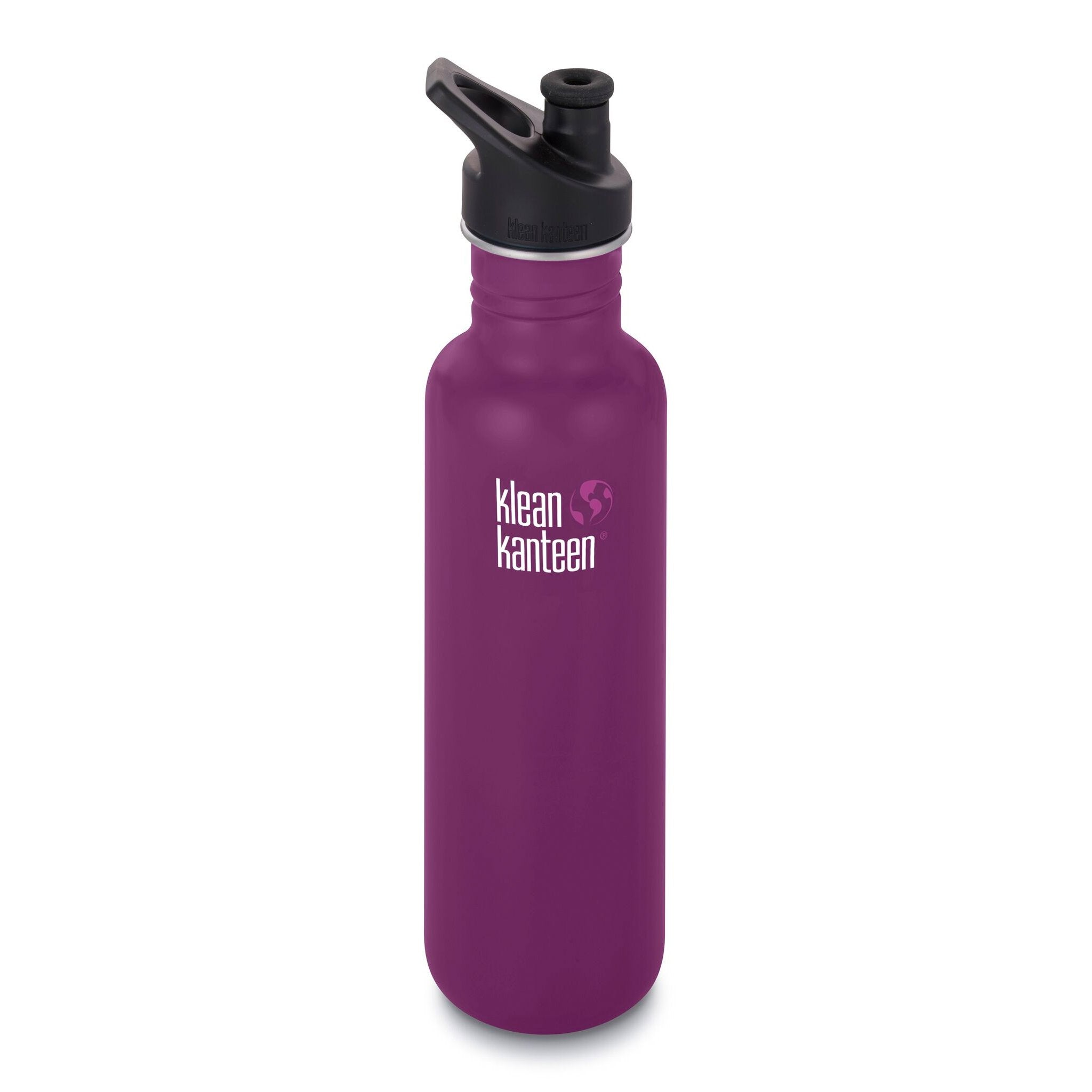 Klean Kanteen Stainless Steel Classic Water Bottle Klean Kanteen Water Bottles 800ml 27oz / Winter Plum at Little Earth Nest Eco Shop
