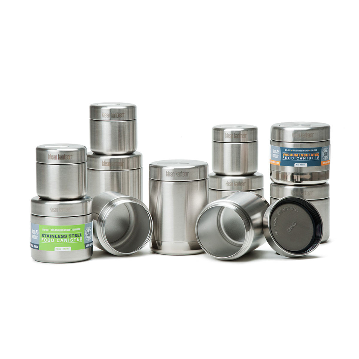 Klean Kanteen Stainless Steel Food Jar Klean Kanteen Food Storage Containers 237ml / Single Wall at Little Earth Nest Eco Shop