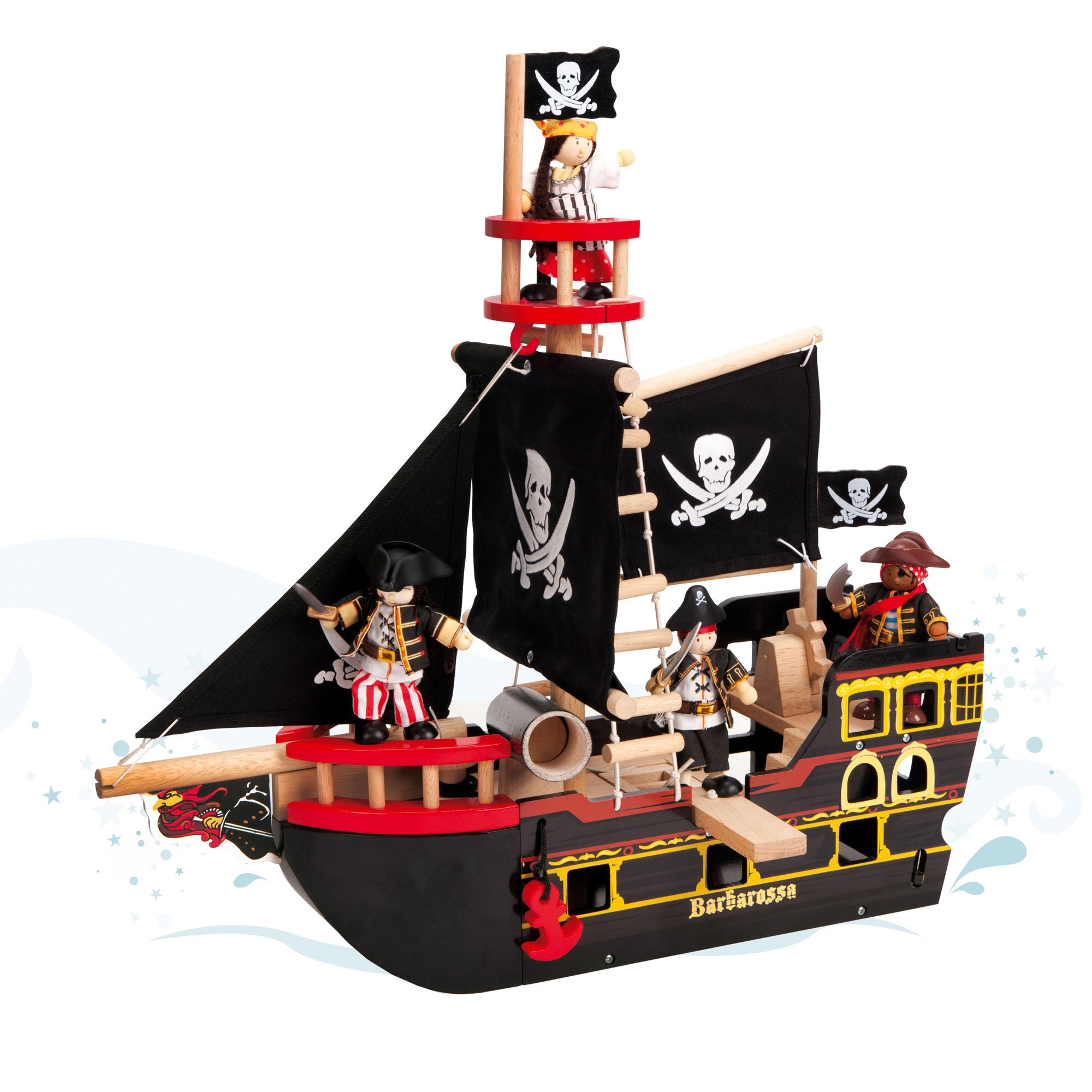 Le Toy Van Barbarossa Pirate Ship Le Toy Van Toys at Little Earth Nest Eco Shop