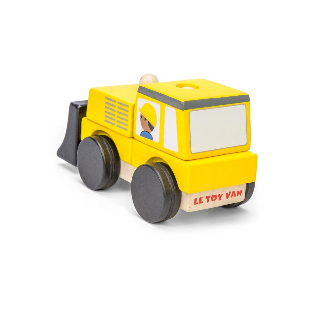 Le Toy Van Bulldozer Stacker Le Toy Van Toy Cars at Little Earth Nest Eco Shop