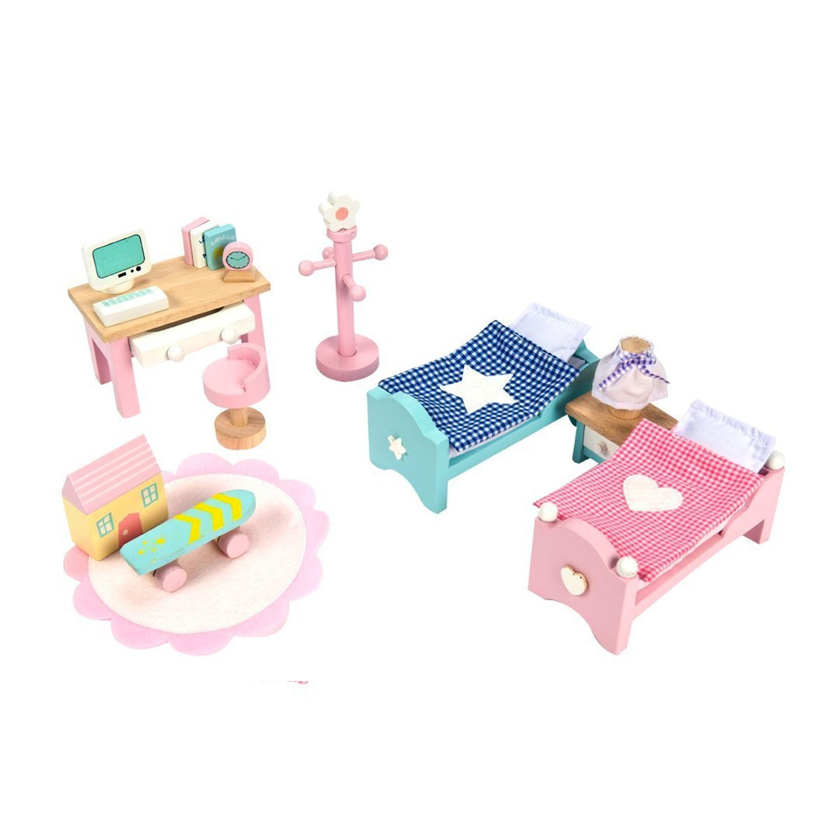 Le Toy Van Dolls House Furniture Le Toy Van Dollhouse Accessories Childs Bedroom at Little Earth Nest Eco Shop
