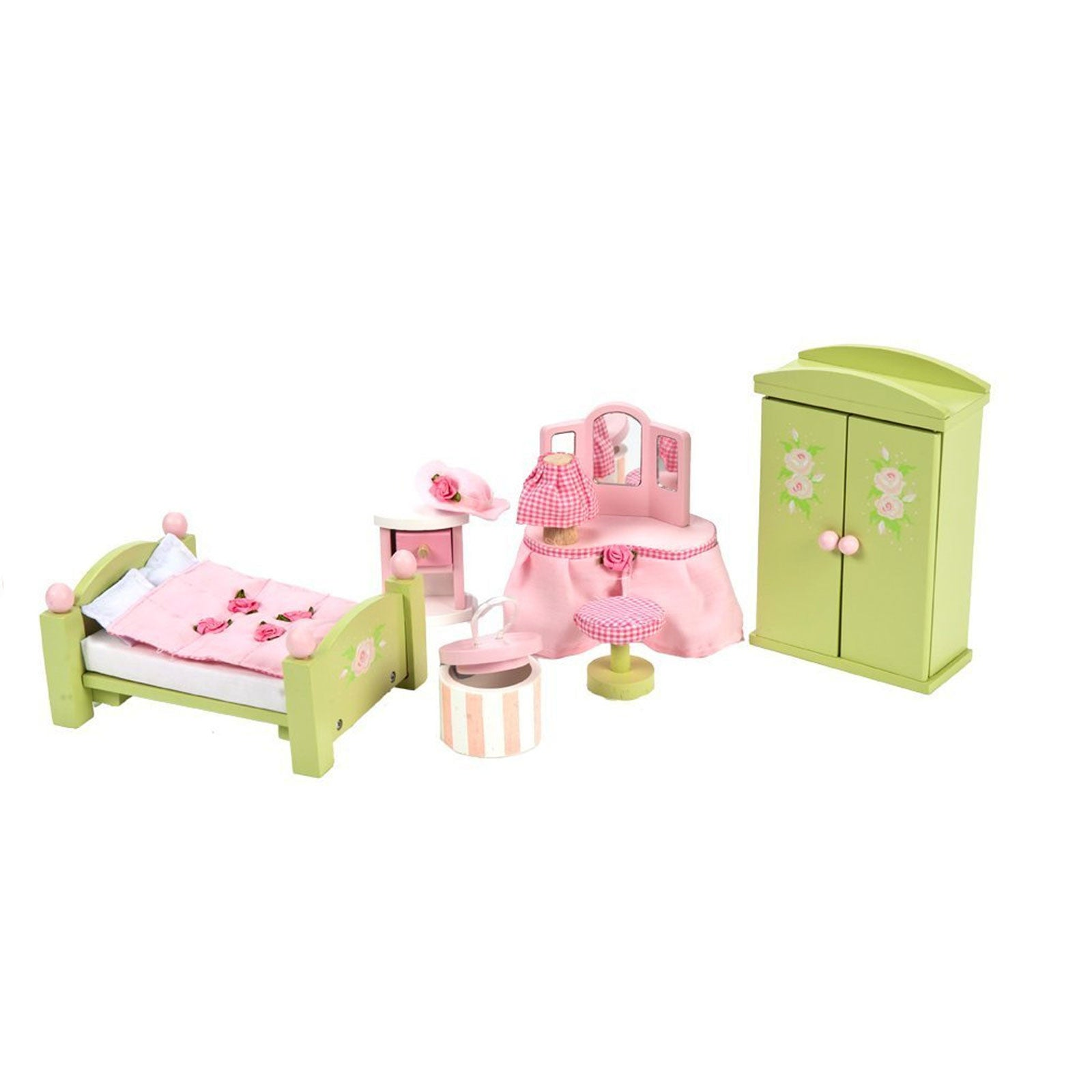 Le Toy Van Dolls House Furniture Le Toy Van Dollhouse Accessories Master Bedroom at Little Earth Nest Eco Shop