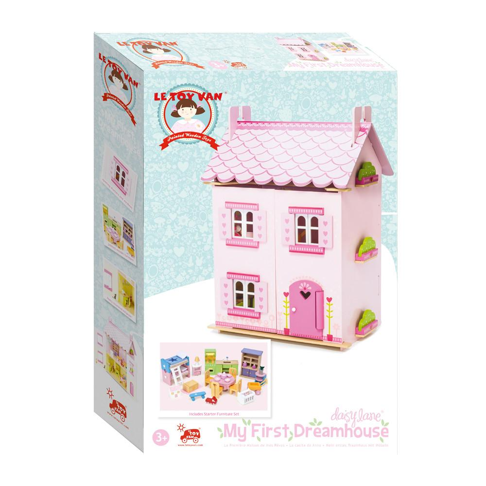 Le Toy Van My First Dream Doll House with Furniture Le Toy Van Dollshouses at Little Earth Nest Eco Shop