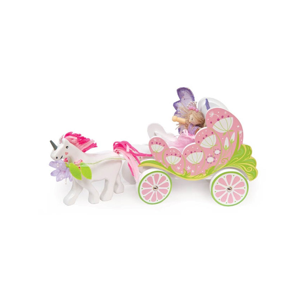 Le Toy Van Fairybelle Carriage and Unicorn Le Toy Van Dollhouse Accessories at Little Earth Nest Eco Shop