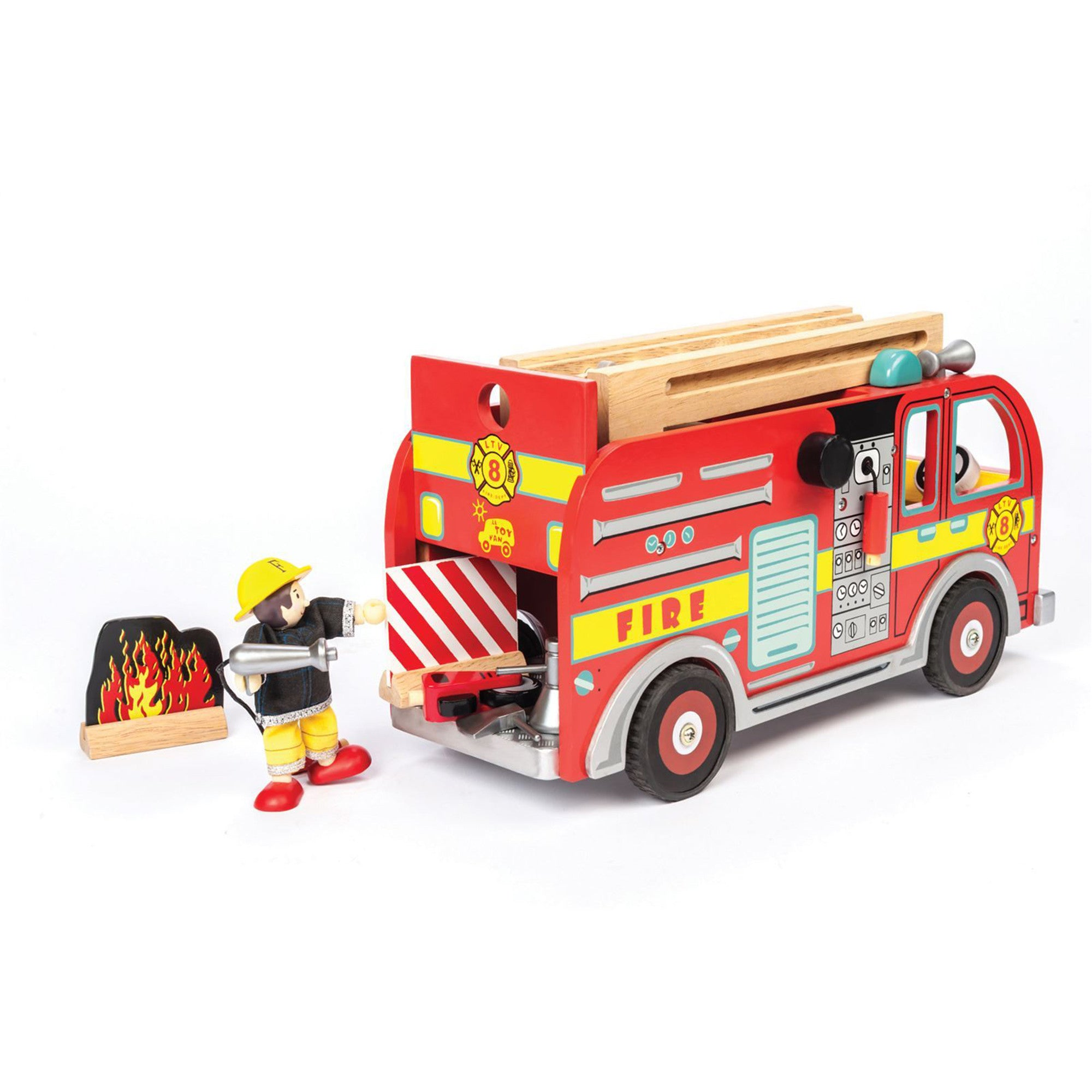 Le Toy Van Fire Engine Set Le Toy Van Play Vehicles at Little Earth Nest Eco Shop