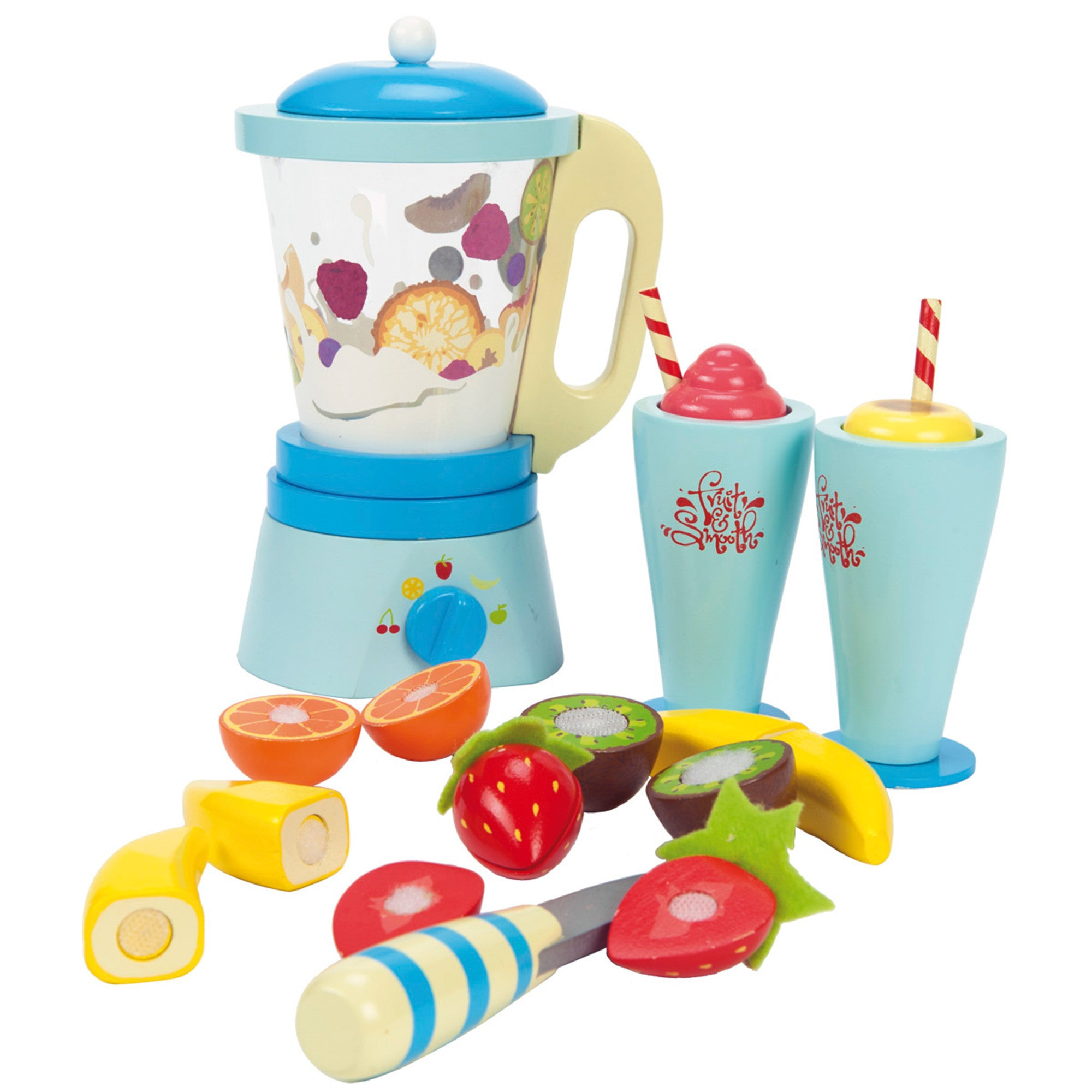 Le Toy Van Fruit and Smooth Blender Set Le Toy Van Toy Kitchens & Play Food at Little Earth Nest Eco Shop