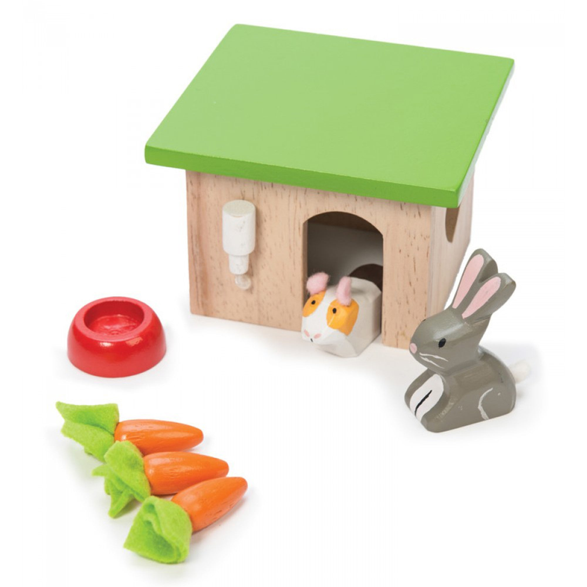 Le Toy Van Guinea Pig and Bunny Set Le Toy Van Dollhouse Accessories at Little Earth Nest Eco Shop