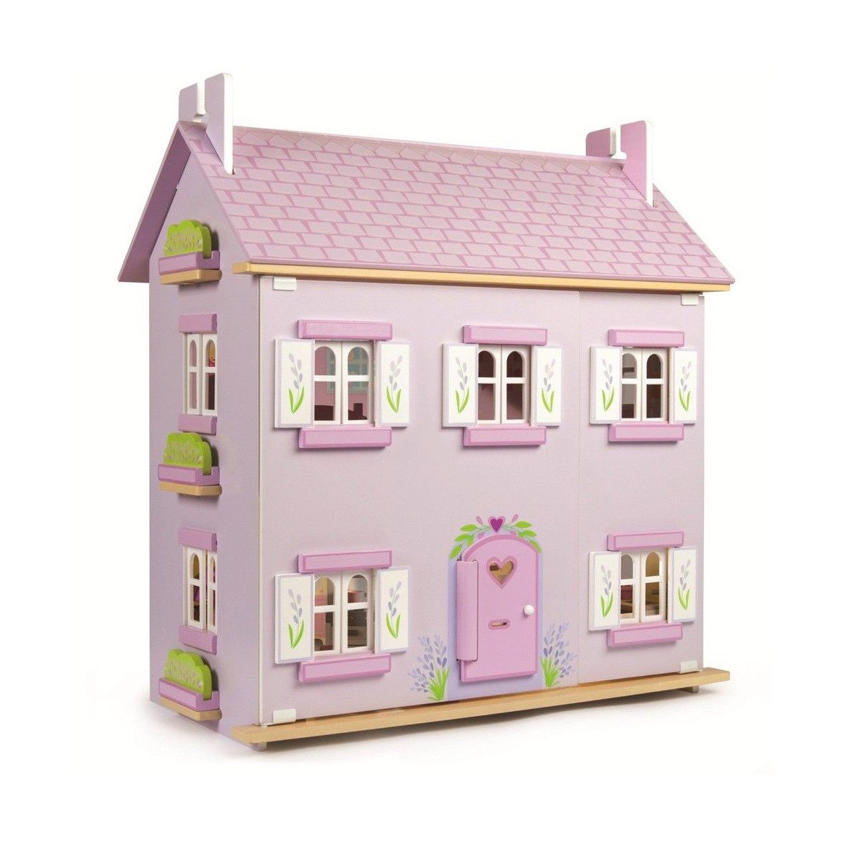 Le Toy Van Daisy Lane Lavender House Le Toy Van Dollshouses at Little Earth Nest Eco Shop