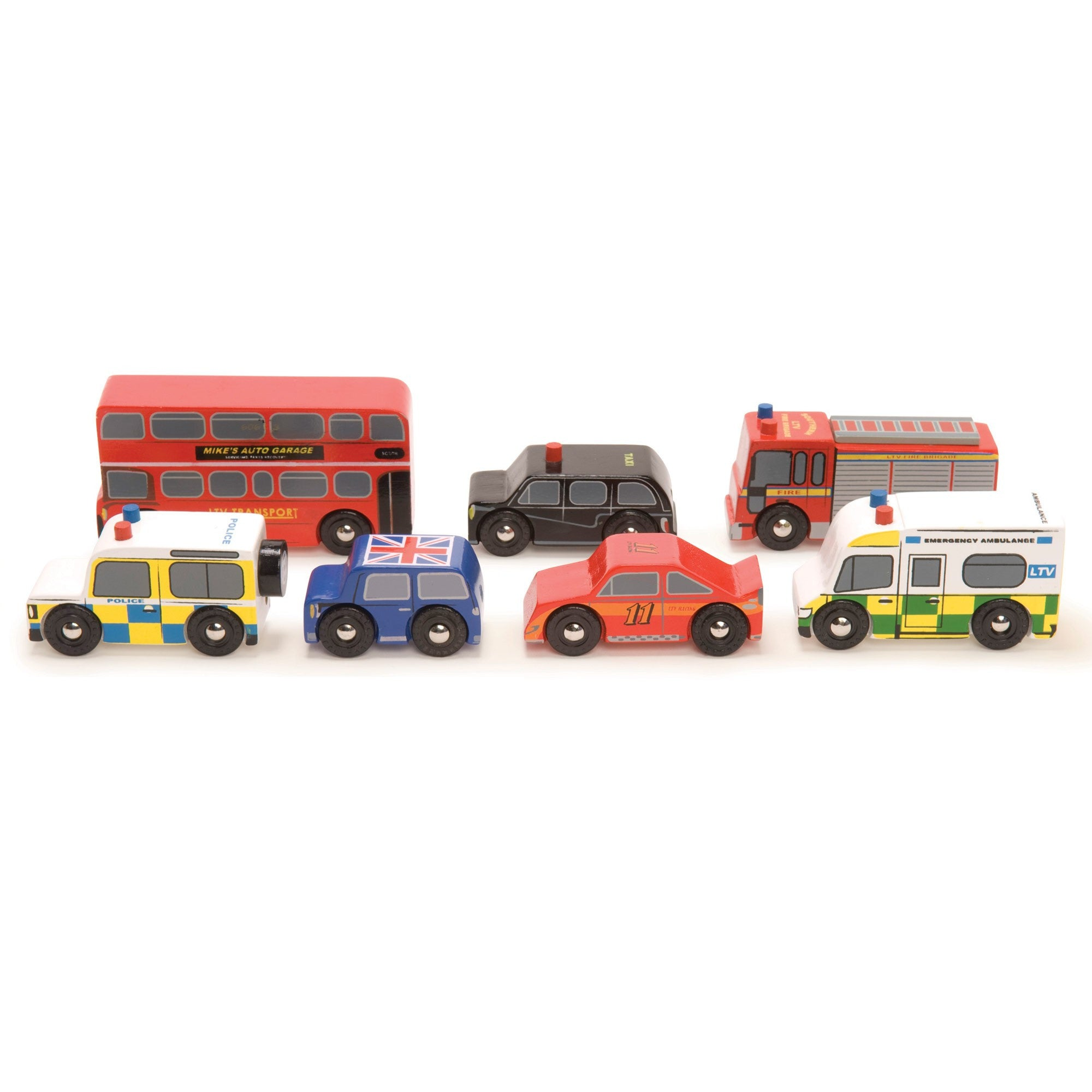 Le Toy Van London Car Set Le Toy Van Toy Cars at Little Earth Nest Eco Shop