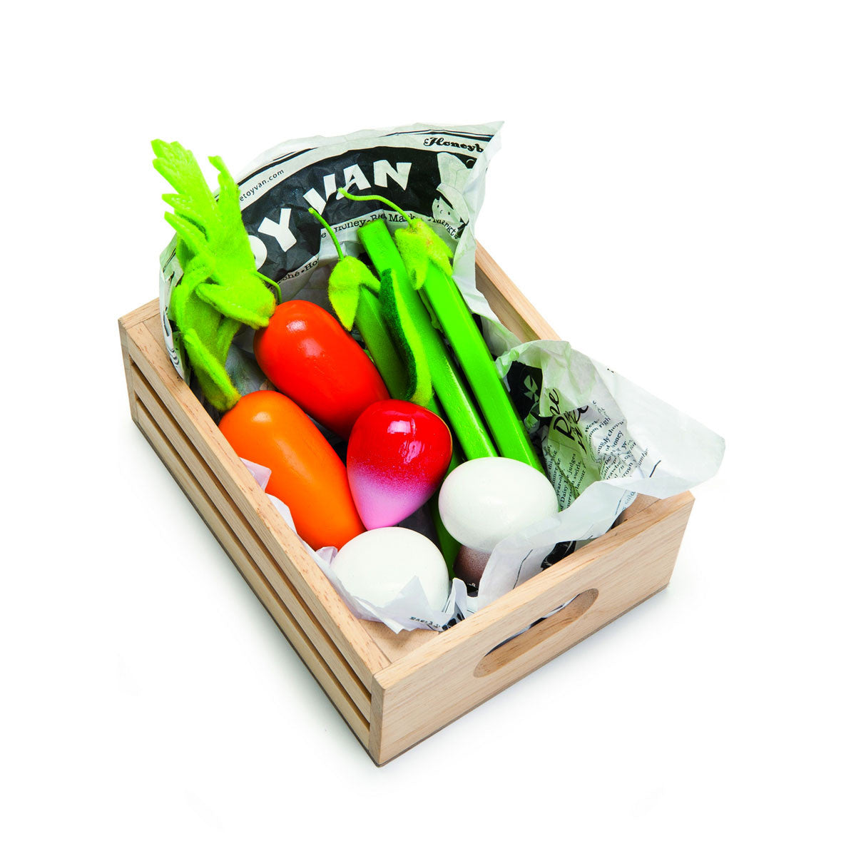 Le Toy Van Food In Wooden Crates  Harvest Vegetables - Le Toy Van - Little Earth Nest - 1