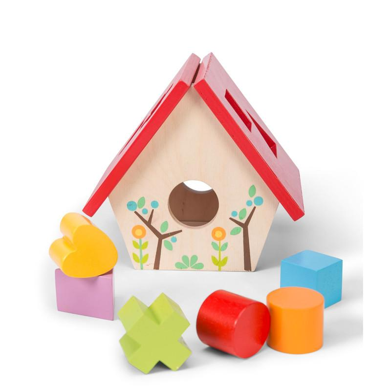 Le Toy Van Bird House Shape Sorter Le Toy Van Baby Activity Toys at Little Earth Nest Eco Shop