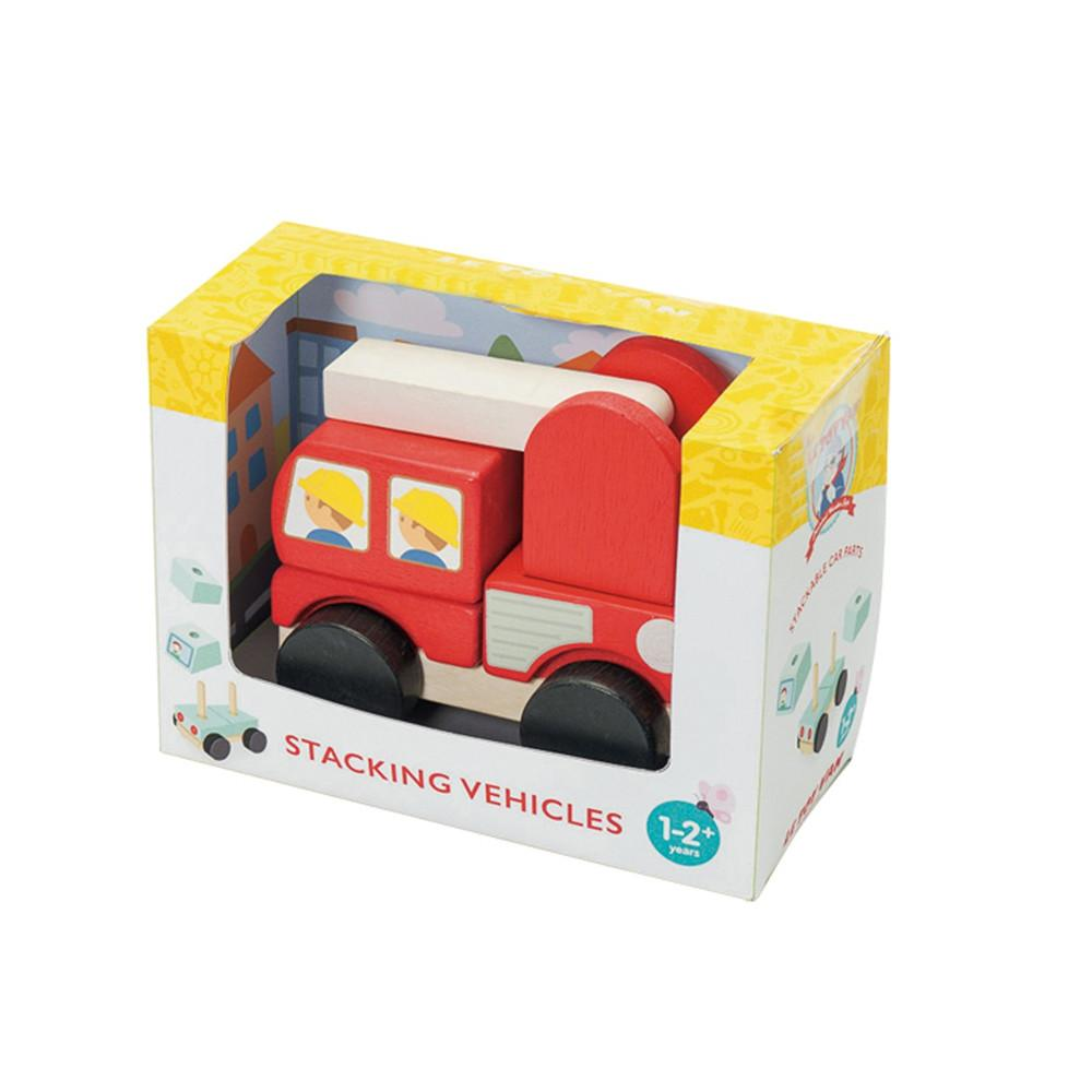 Le Toy Van Fire Engine Stacker Le Toy Van Toy Cars at Little Earth Nest Eco Shop