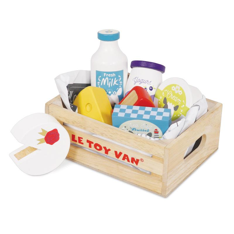 Le Toy Van Food In Wooden Crates Le Toy Van Toy Kitchens & Play Food Eggs and Dairy at Little Earth Nest Eco Shop