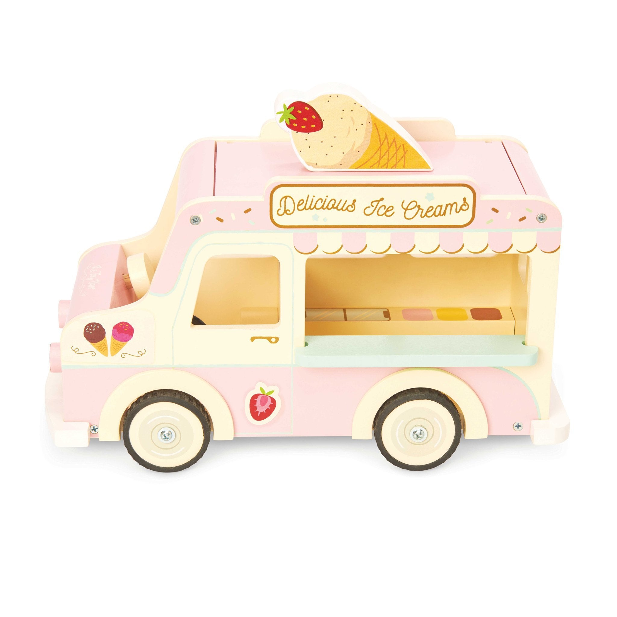 Le Toy Van Dolly Icecream Van Le Toy Van Pretend Play at Little Earth Nest Eco Shop