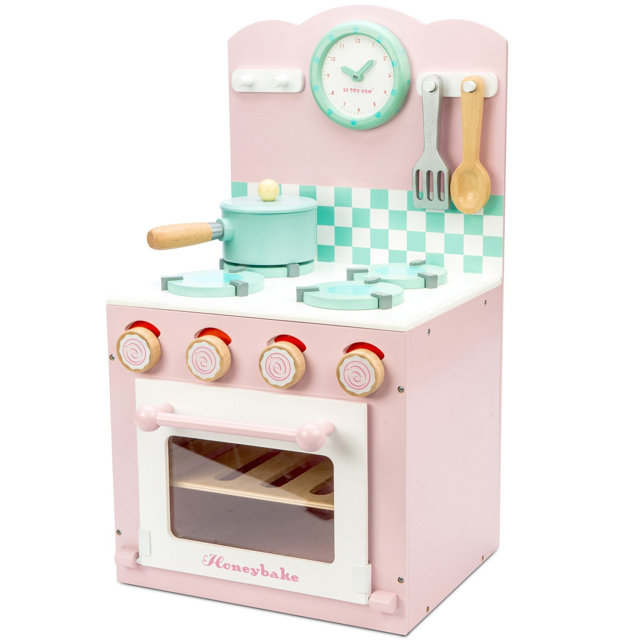 Le Toy Van Pink Oven and Hob Le Toy Van Toy Kitchens & Play Food at Little Earth Nest Eco Shop