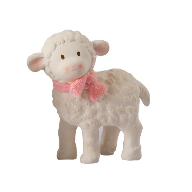 Lila Lamb Natural Rubber Toy Tikiri General at Little Earth Nest Eco Shop