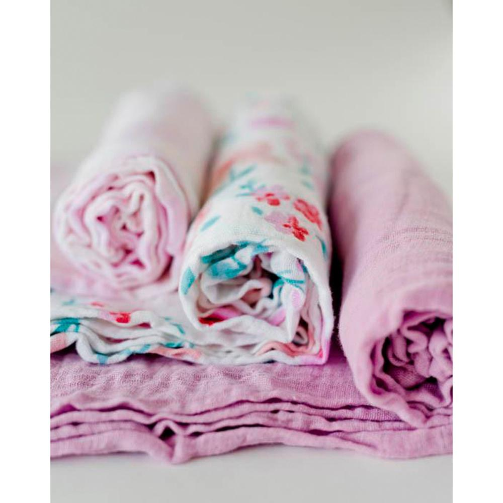 Cotton Muslin Swaddles - 3 Pack Little Unicorn Bath and Body at Little Earth Nest Eco Shop