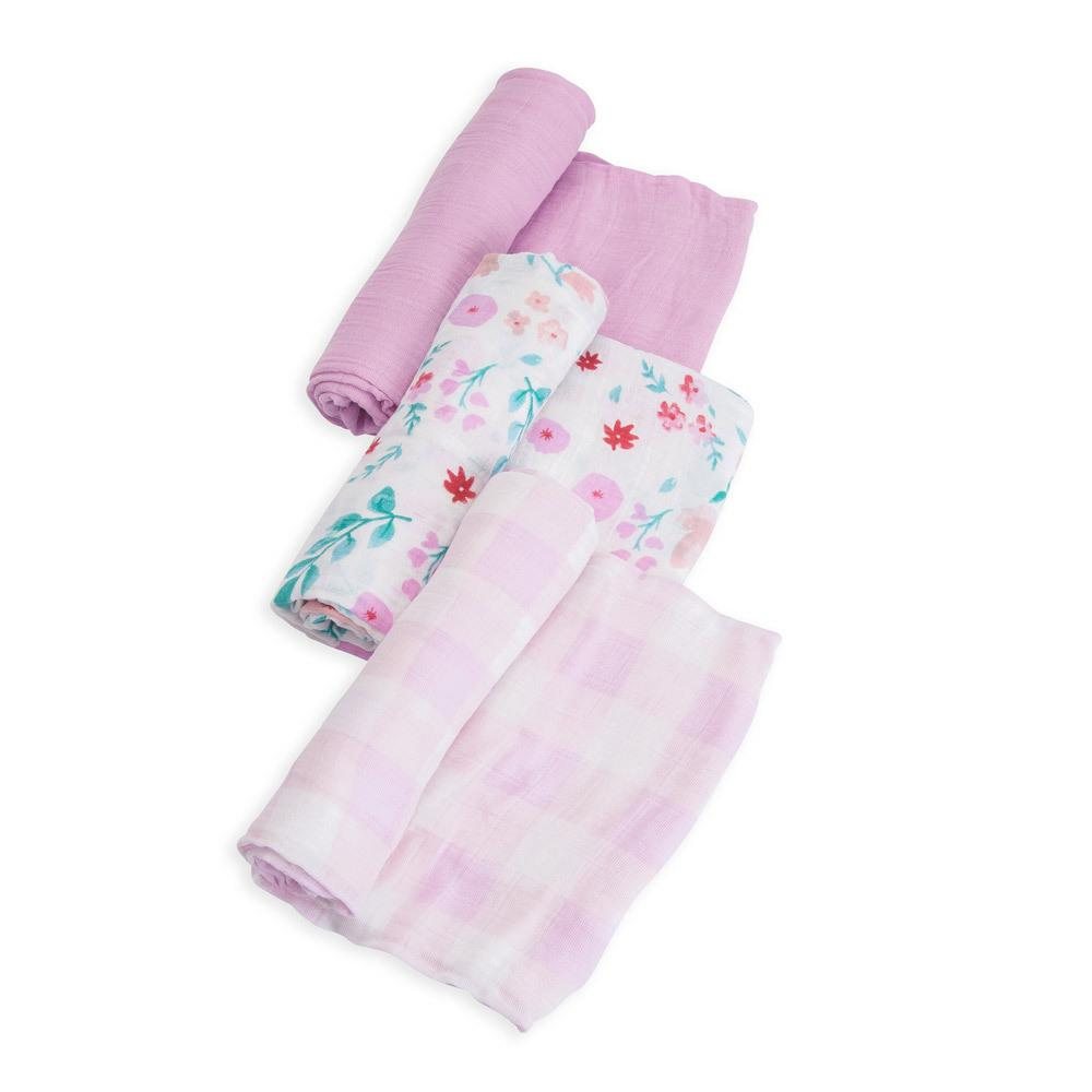 Cotton Muslin Swaddles - 3 Pack Little Unicorn Bath and Body Morning Glory at Little Earth Nest Eco Shop