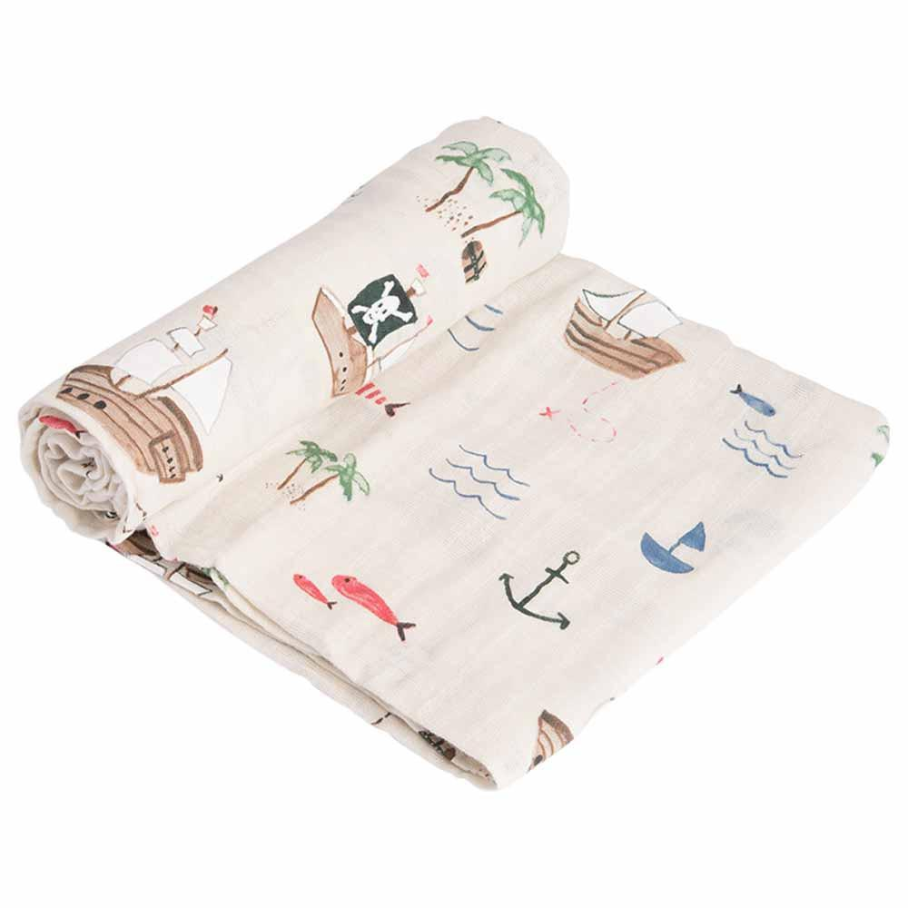 Cotton Muslin Swaddle Little Unicorn Bath and Body Treasure Map at Little Earth Nest Eco Shop