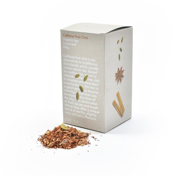 Love Chai Caffeine Free Chai Tea Box 100g