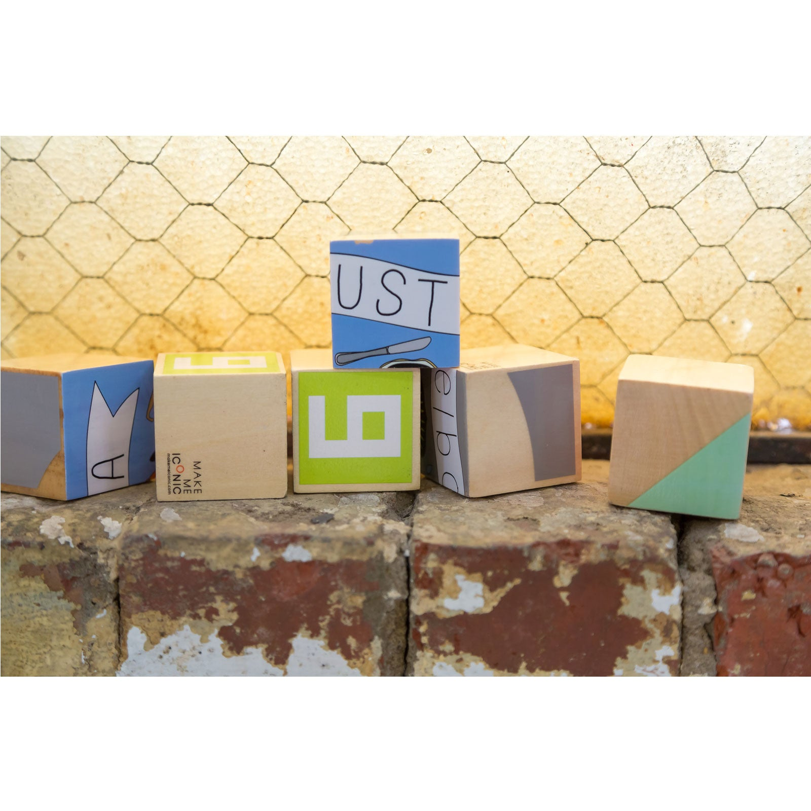 Make Me Iconic Stacking Blocks Make Me Iconic Wooden Blocks at Little Earth Nest Eco Shop