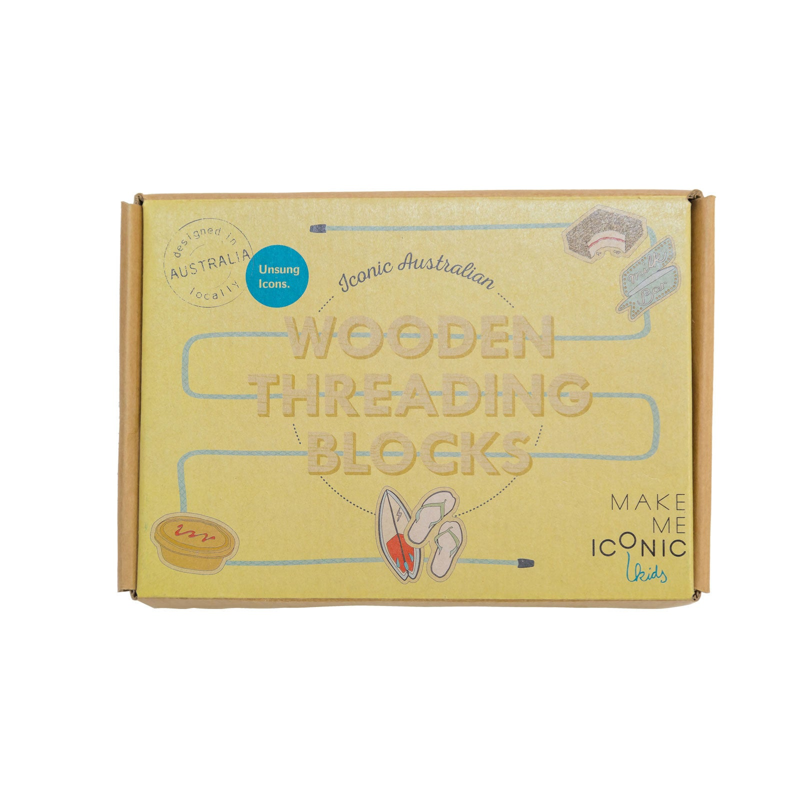 Make Me Iconic Threading Blocks Make Me Iconic Wooden Blocks at Little Earth Nest Eco Shop